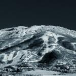 The Ski Area in Black and White